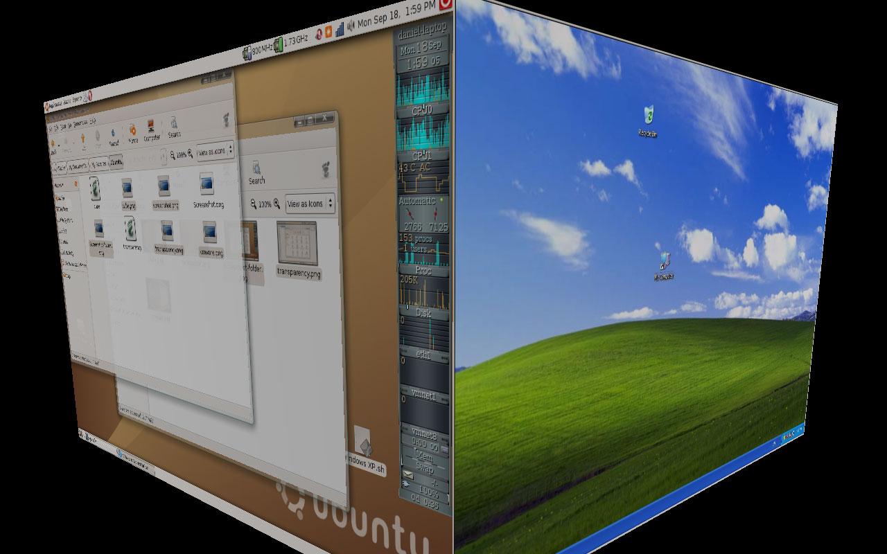 Laptop, Linux and Compiz — Daniel15